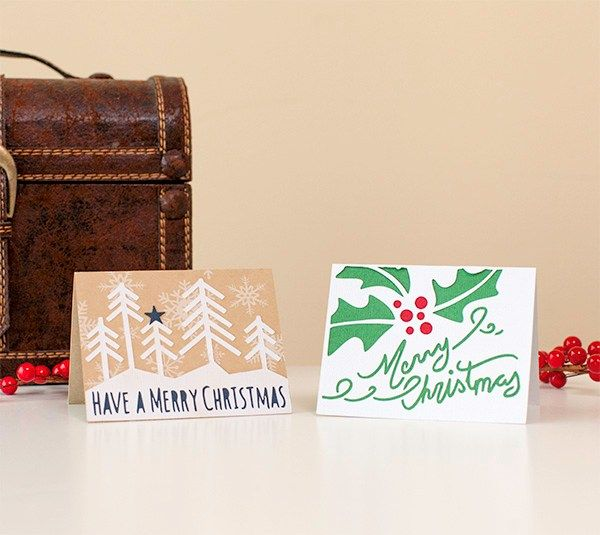 DIY Christmas Holiday Cards. Make It Now In Cricut Design