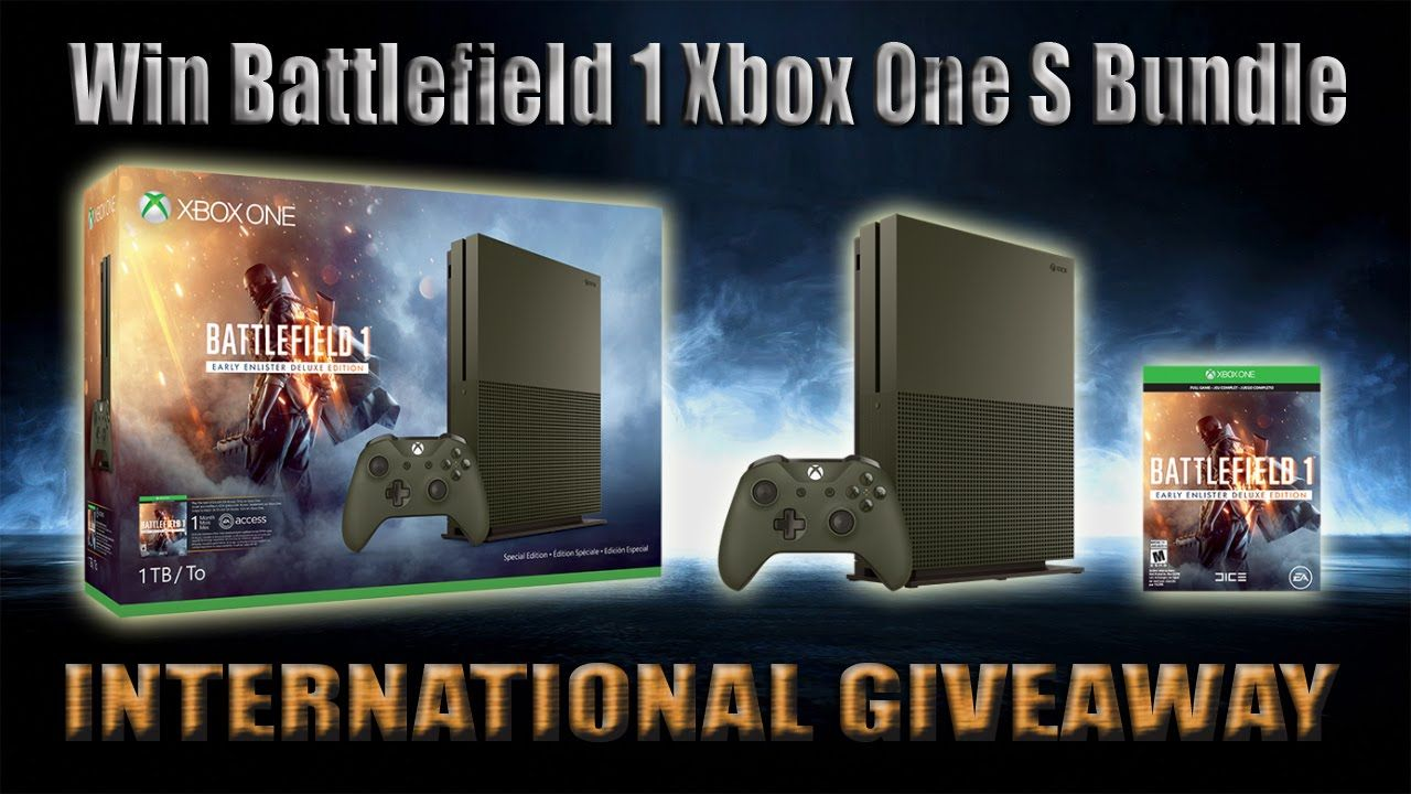 Open Giveaway Win A Limited Edition Battlefield 1 Xbox One S