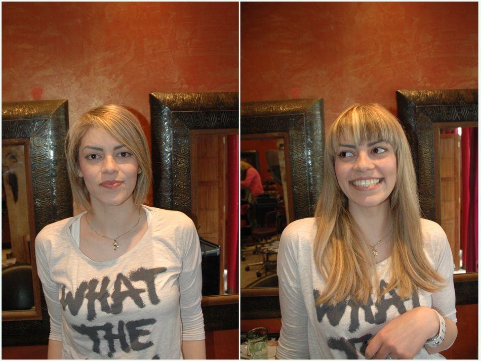 Extension de cheveux tres long