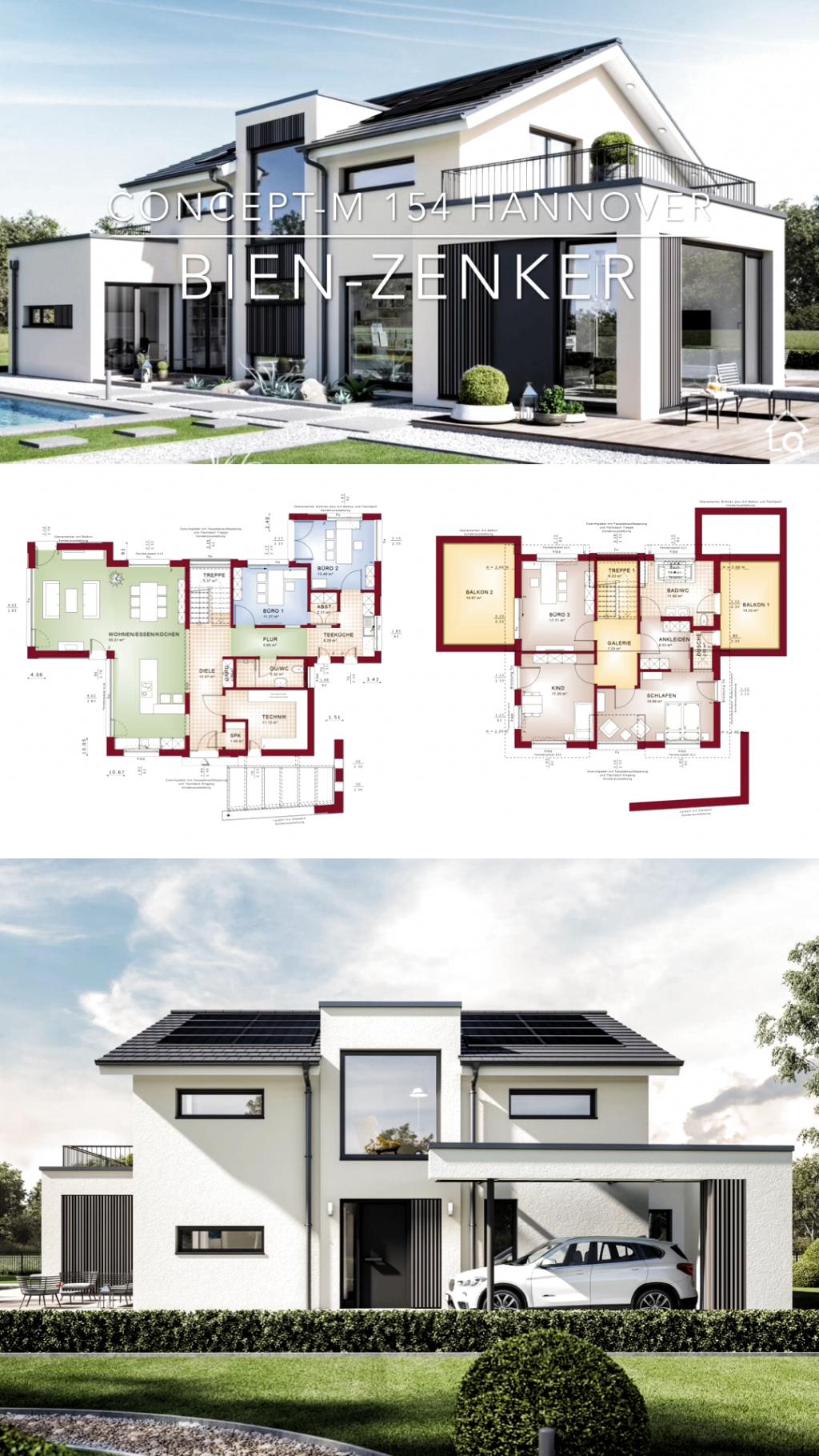 Einfamilienhaus Neubau Modern Mit Satteldach Bauen Fertighaus Haus Grundriss Offen 6 Zimmer 22 In 2020 House Construction Plan Modern House Plans Architecture House