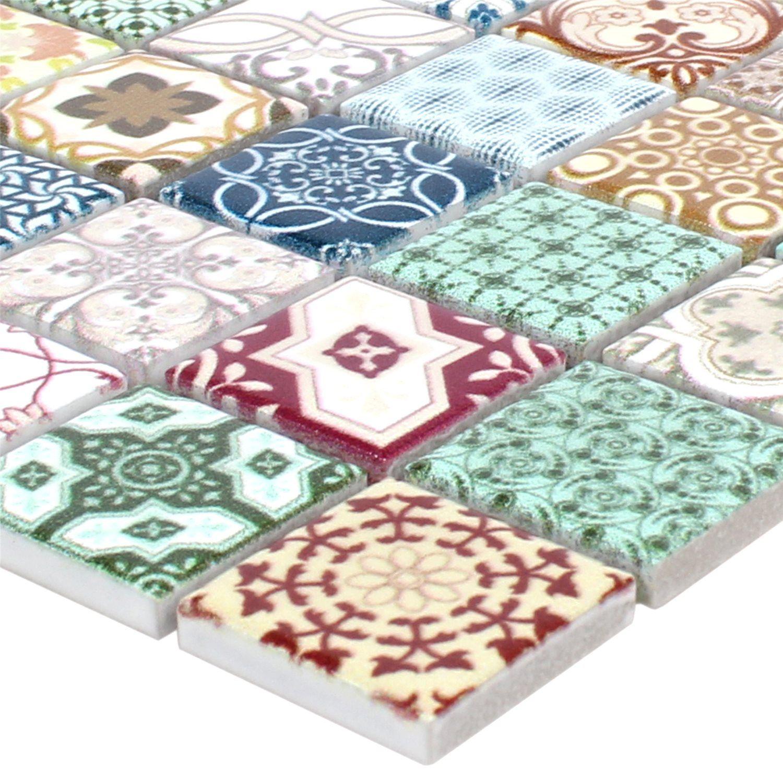 Mosaikfliesen Keramik Dia Retro