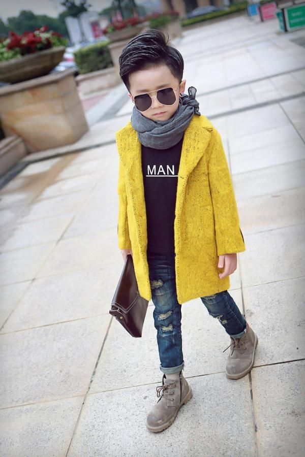 a69d65d5bb6d Toddler Girl Down Coat Woolen Clothing For Little Boys Kids Clothing ...