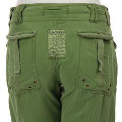 NEW Da-Nang Surplus Women/'s Casual Zip Back Chinese Green Mini Skirt RSS1302 M