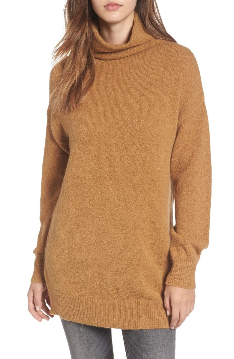 51d12940404 Free shipping and returns on BP. Bouclé Turtleneck Tunic Sweater at  Nordstrom.com. A cozy mock neck, dropped shoulders and a hip-length hem add to  the cozy ...