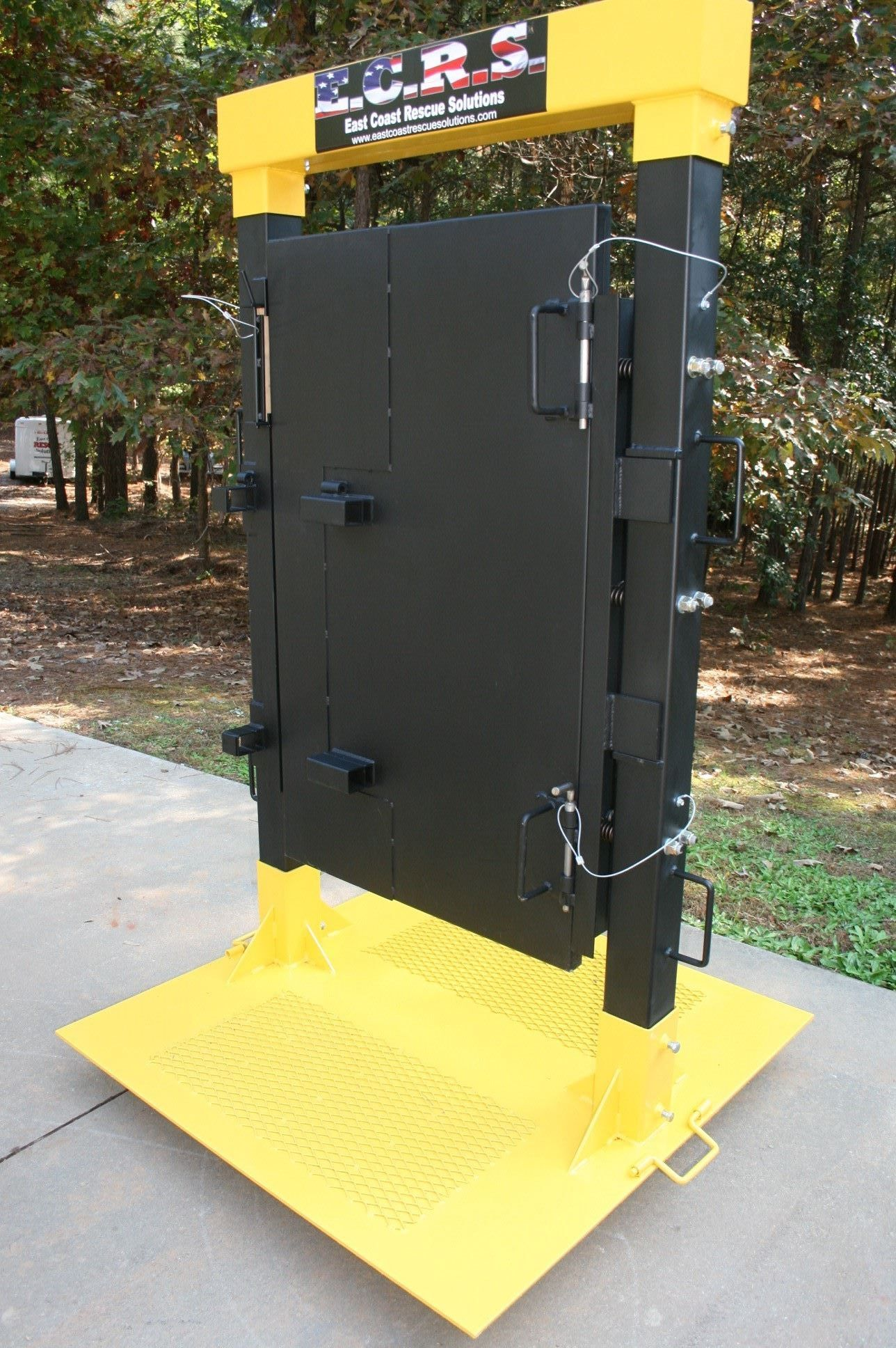 Custom Built Forcible Entry Door Simulator That Allows Firefighters