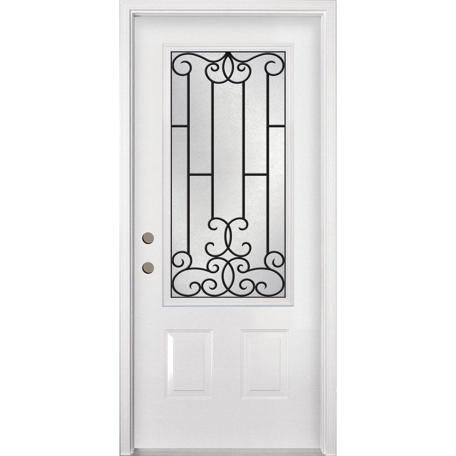 Tru Tech Tuscan Inswing Steel Entry Door Lowes Canada Front