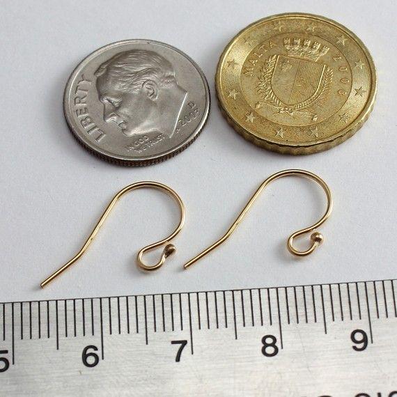 14k Gold Filled Ear wires Shepherd Hook by desertfiresupplies