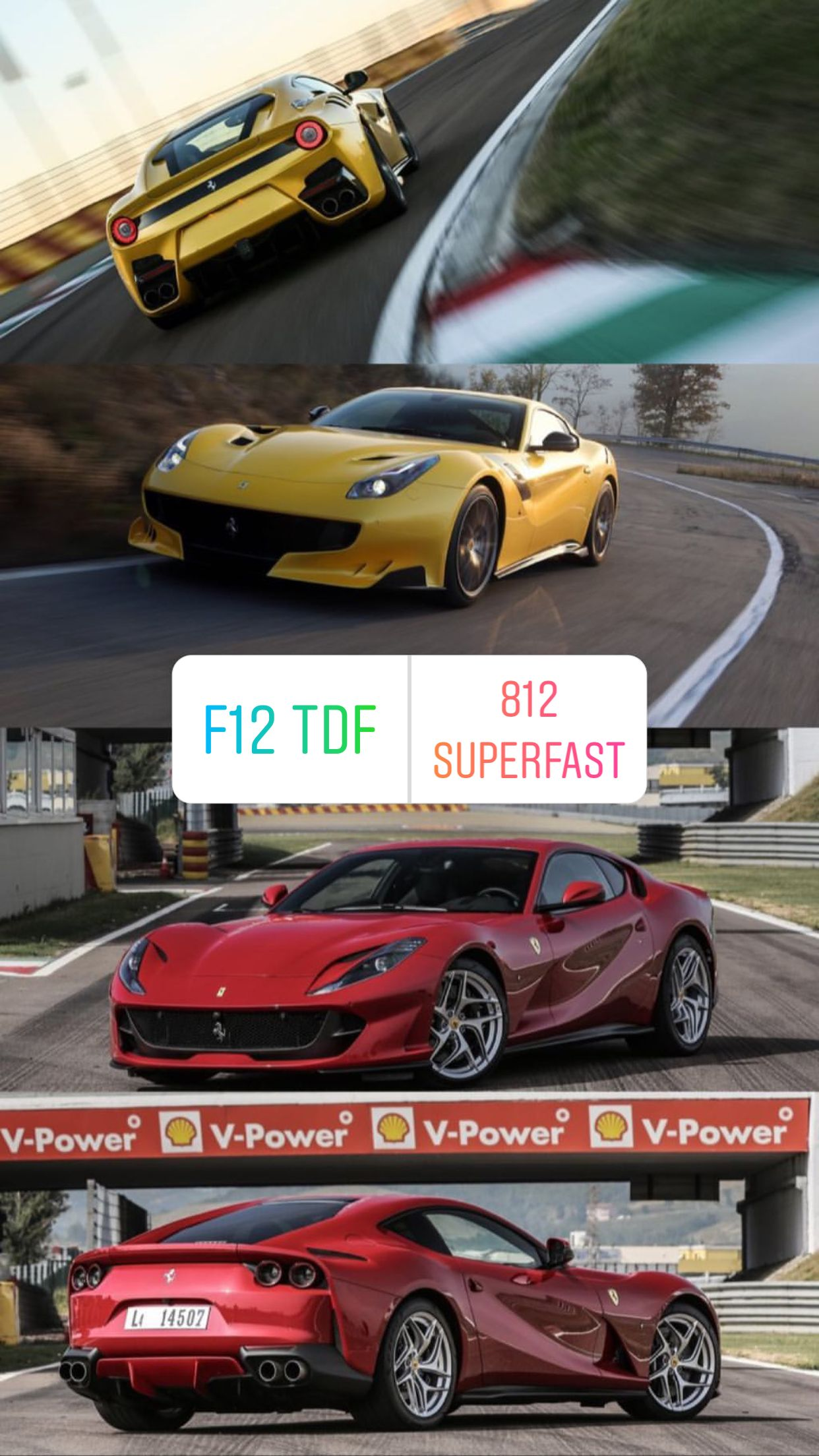 F12 Tdf Or 812 Superfast Ferrari Super Cars Sports Car