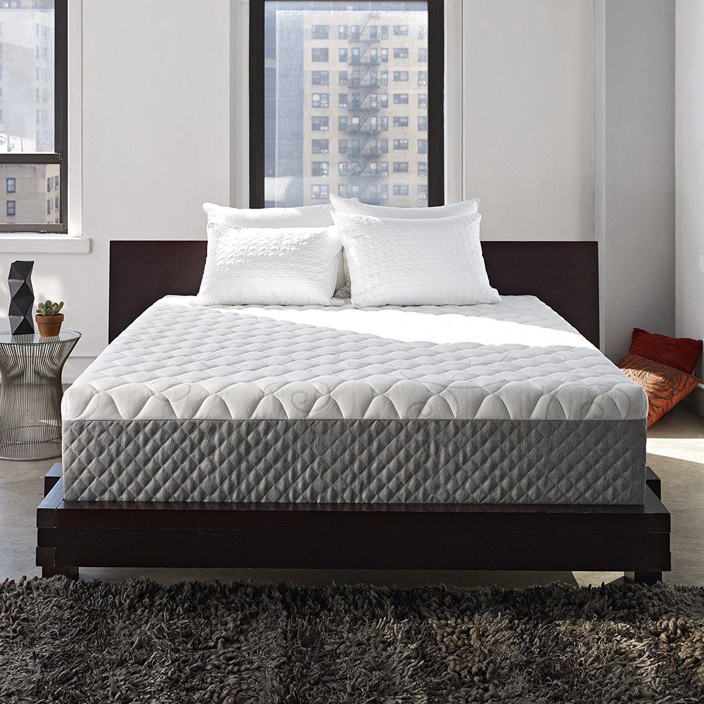 olee sleep 12 inch i gel top tencel memory foam mattress 12fm01k