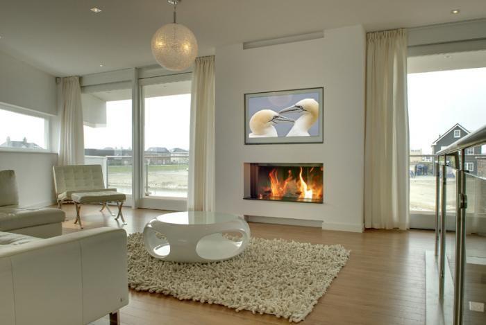 Moderne inbouwhaarden inspirerende kachels open haarden en schouwen fireplace pinterest - Deco moderne open haard ...