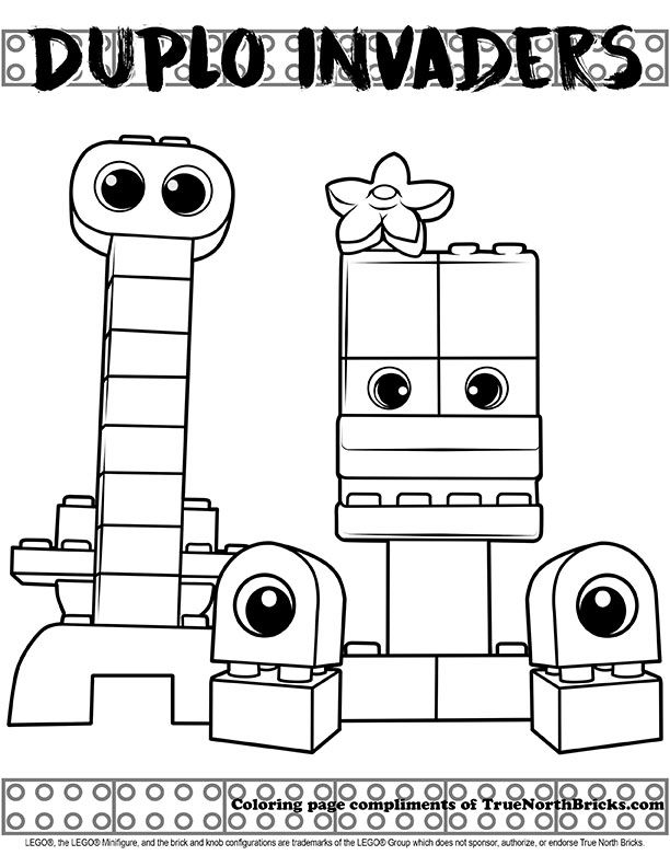 Coloring Page Duplo Invaders True North Bricks Lego Movie Coloring Pages Coloring Pages Lego Coloring