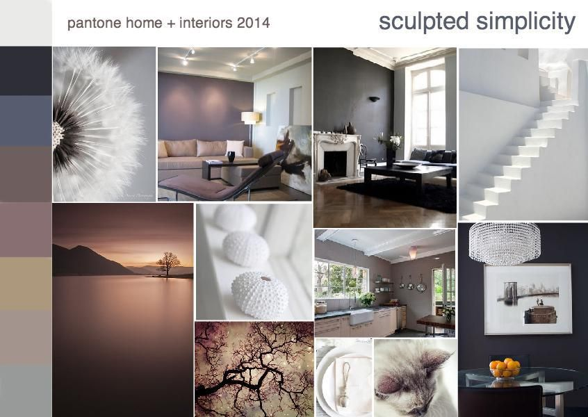 Pantone Sculpted Simplicity Color Trend Interior Design Mood Board