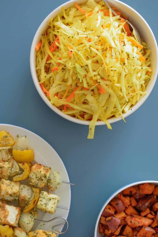 Indian coleslaw spicy cabbage salad recipe indian