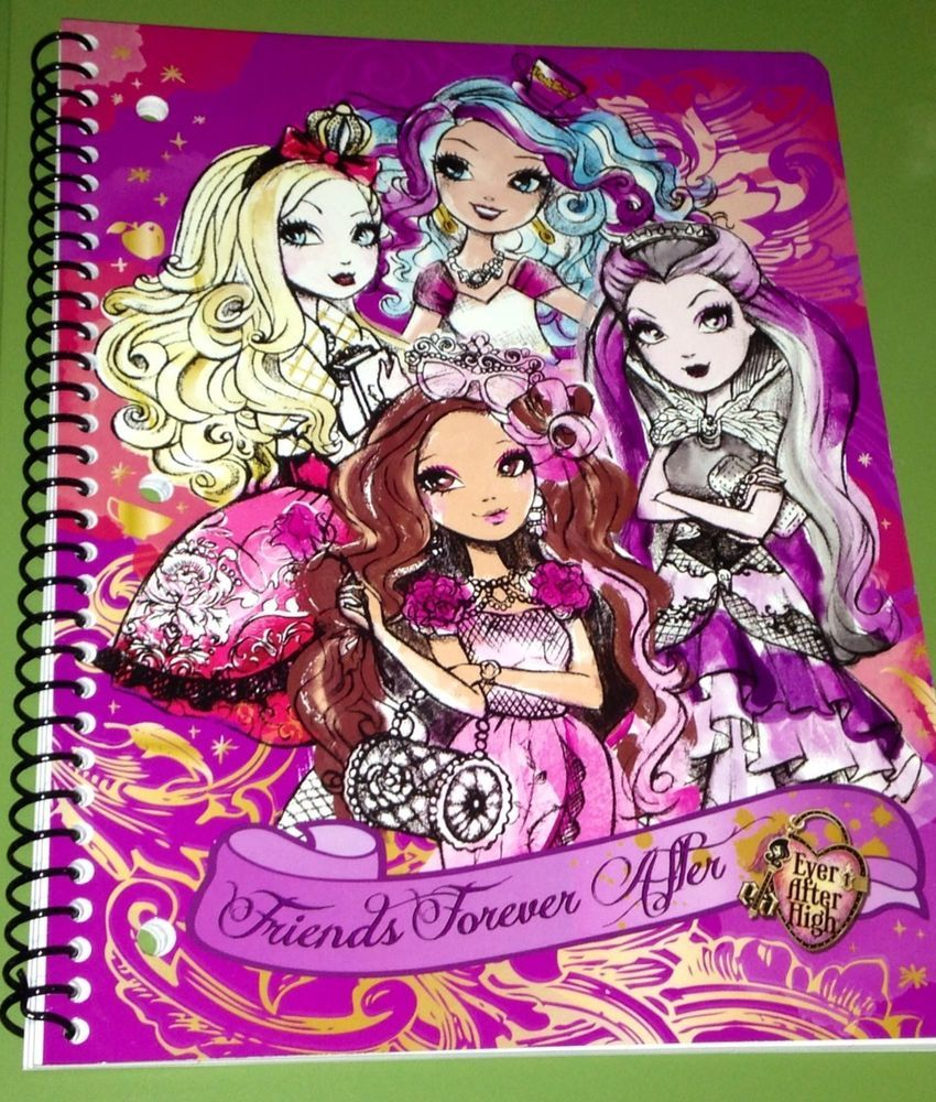 ever after high backpack bookbag new book bag back pack inch ever after high spiral notebook one subject new great for back to school