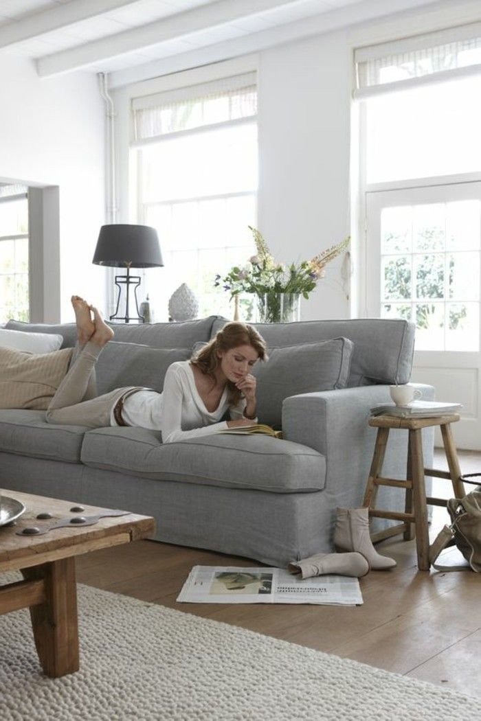 Quelle Sofa comment incorporer la couleur grège idées en photos taupe