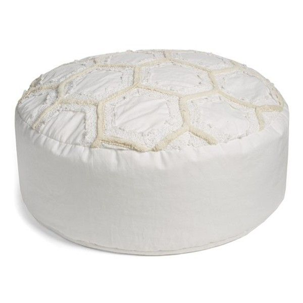 Nordstrom At Home U0027Tufted Lace   Honeycombu0027 Pouf ($118) ❤ Liked On