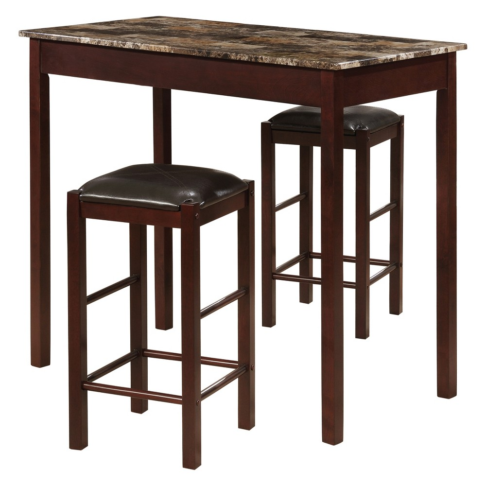 Pleasing Tavern 42 Wood Table 2 Upholstered Backless Stools Andrewgaddart Wooden Chair Designs For Living Room Andrewgaddartcom