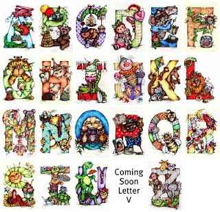 Cute illustrated letters