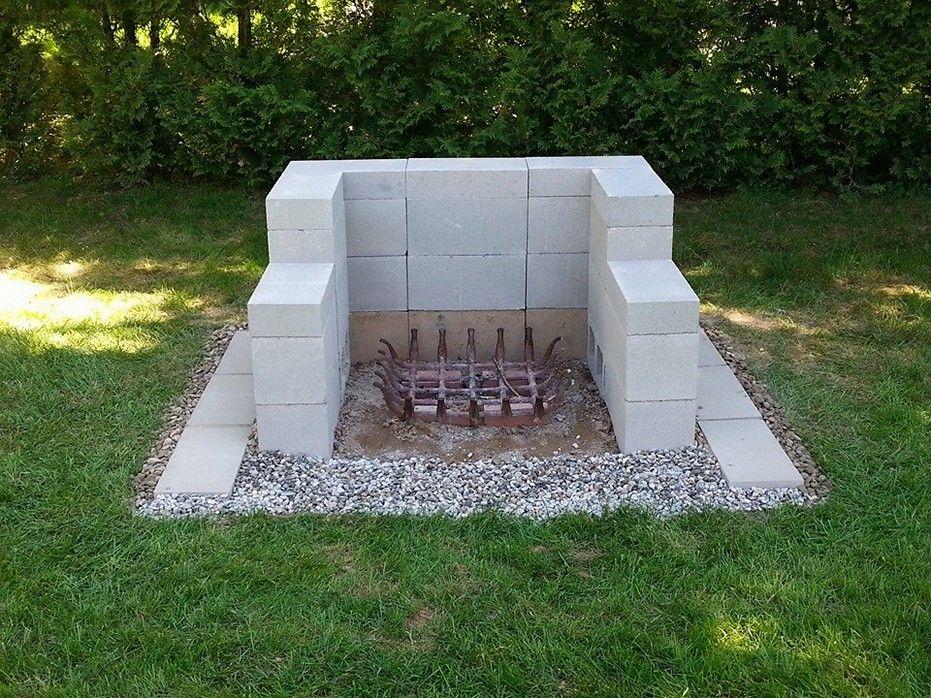 cinder block ideas cinder block fire pit cinder block ... on Outdoor Fireplace With Cinder Blocks id=14685