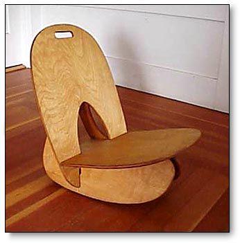 Free Chair Plans Uzzle Rocker Plywood Interlocking