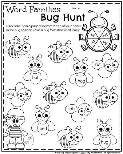 Kindergarten Worksheets for May | Logopedia
