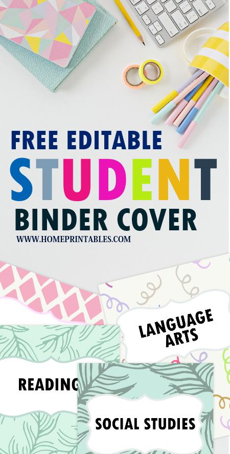 FREE School Binder Divider Printables: Fun and Cute
