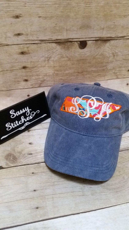 State Logo Hats Etsy Accessories Hat Baseballhat Baseballcap Preppyhats Monogrammedhat E Personalized Baseball Cap Monogram Hats Monogram Baseball Hat