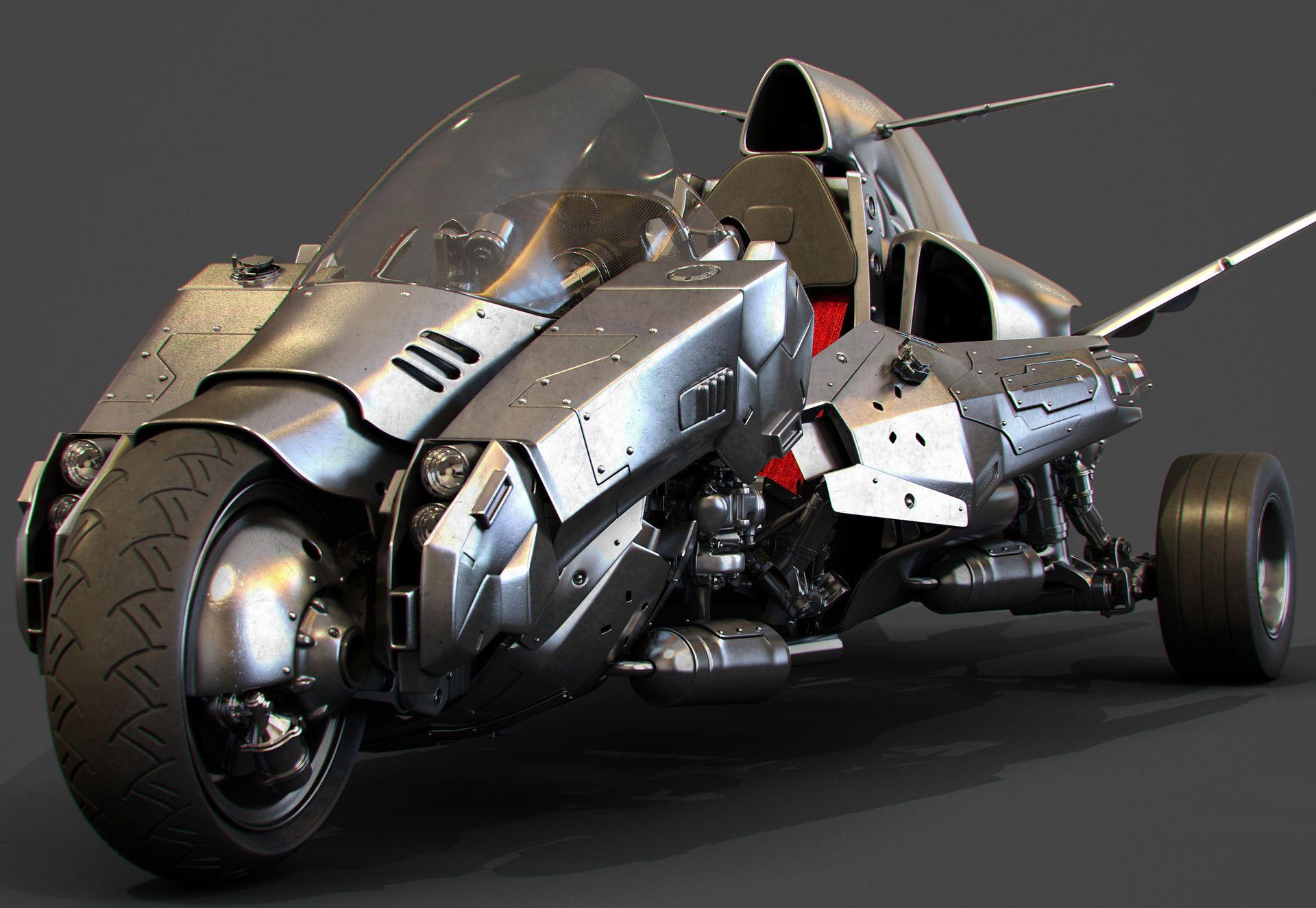 ArtStation Flying motorcycle prototype, YingTe Lien in