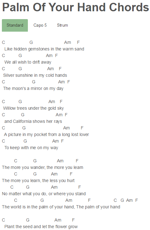 Palm Of Your Hand Chords Cody Simpson | Cody Simpson | Pinterest ...