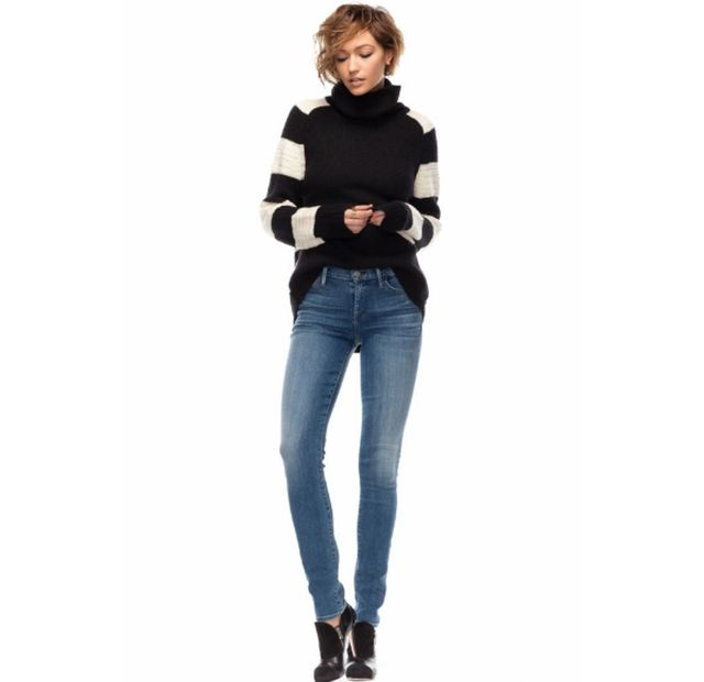 7 Sweater Weather Outfits You'll Have a Love Affair With: Black, White and Blue All Over