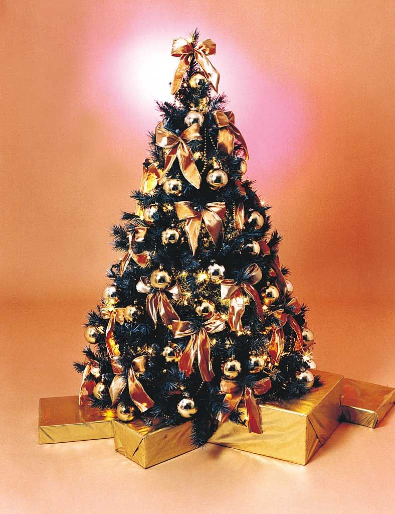 fully decorated christmas trees gold tree parcels enquire about hiring this christmas