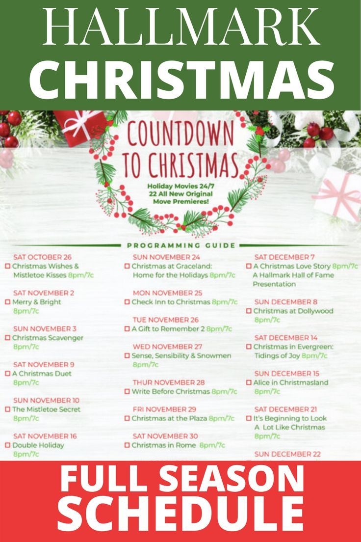 Hallmark Christmas Movies 2019 Checklist Full List And Schedule Mom Generation In 2020 Hallmark Christmas Movies Hallmark Channel Christmas Movies Christmas Movies
