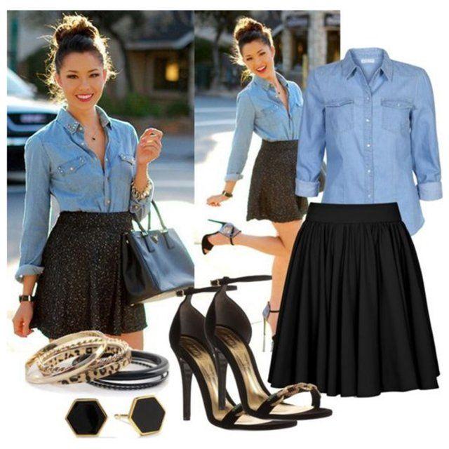 comment porter une chemise look pour le boulot pinterest mode vetements et tenue. Black Bedroom Furniture Sets. Home Design Ideas