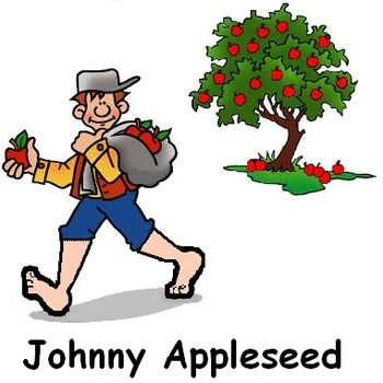 johnny appleseed sept 26 johnny appleseed literacy and math rh pinterest com johnny appleseed clipart black and white