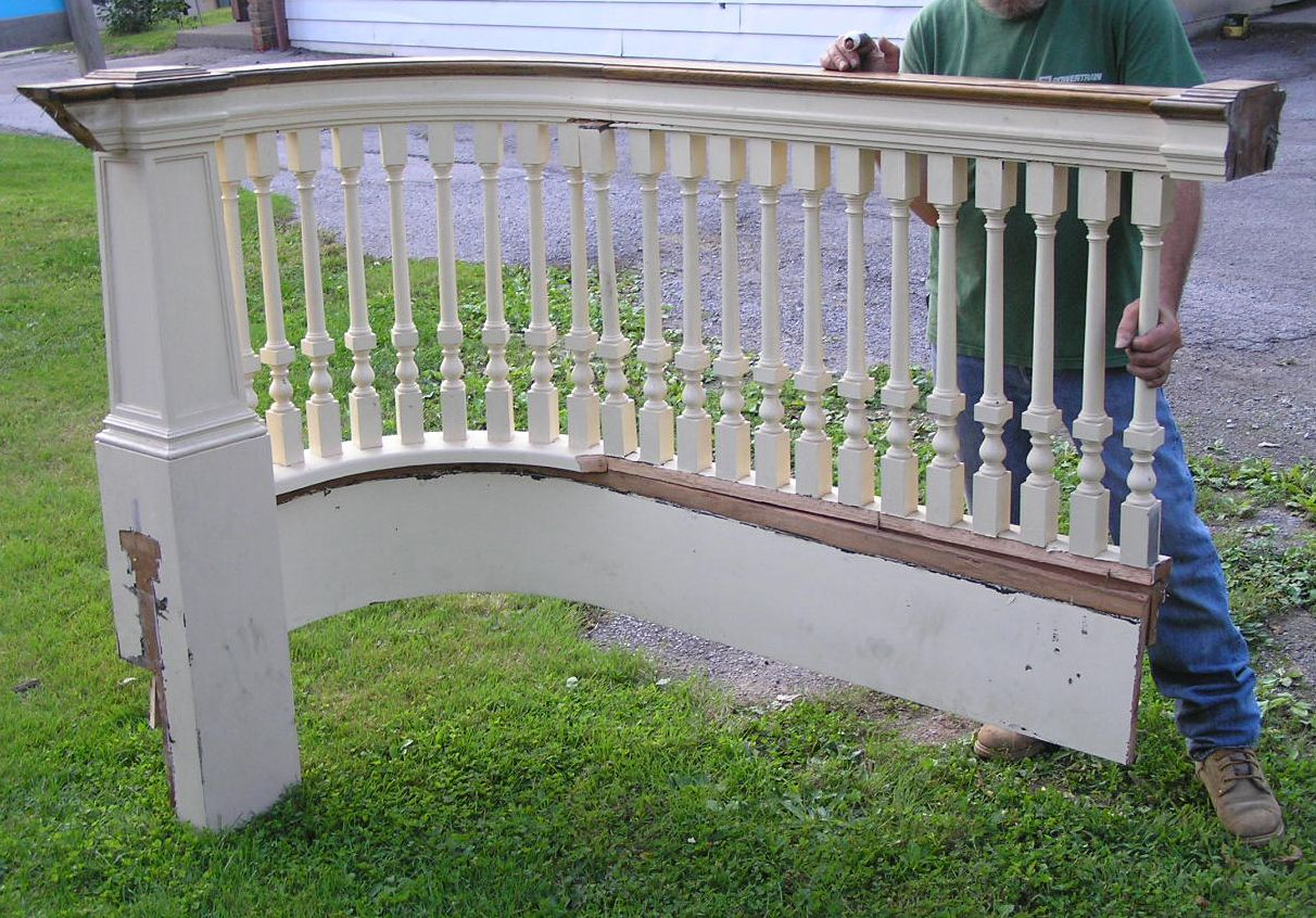 Best Gorgeous Carved Antique Oak Railing Staircase Handrail 640 x 480