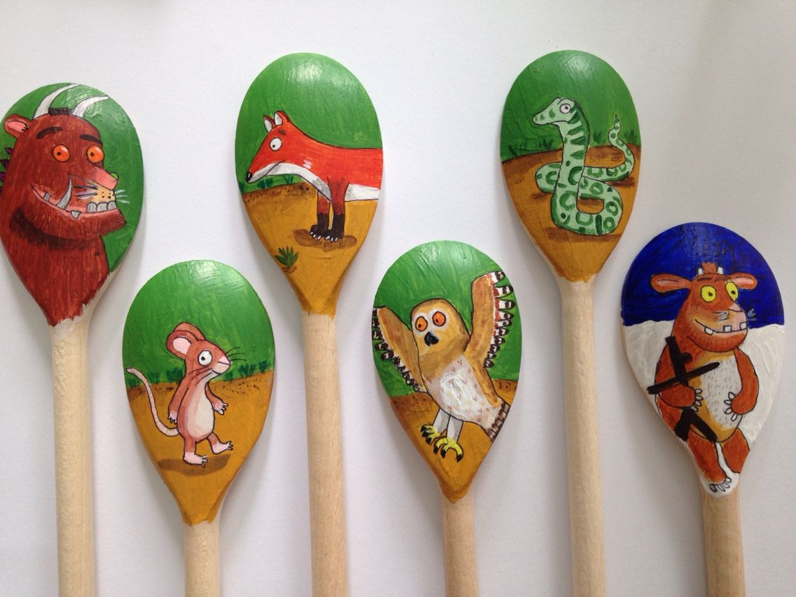 Gruffalo wooden spoon puppets ks1/EYFS. Made for my after school ...