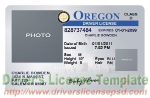 Drivers Certificate Templates Training License Psd Or - Passport Oregon Template Birth