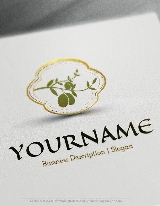 Design Free Logo Online - Olive branch Logo Template | Great Food ...