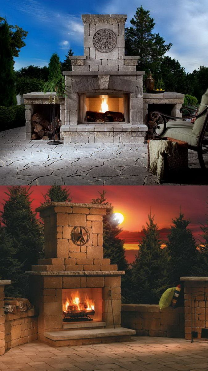 Amazing outdoor fireplace designs part outdoor kitchens