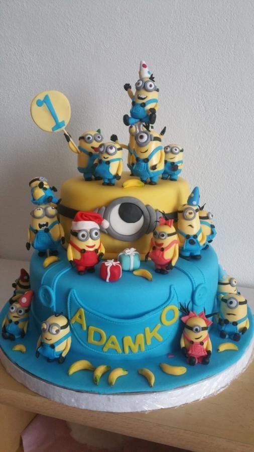 Minions Birthday Cake By Helenka Fancy Fondant Cake