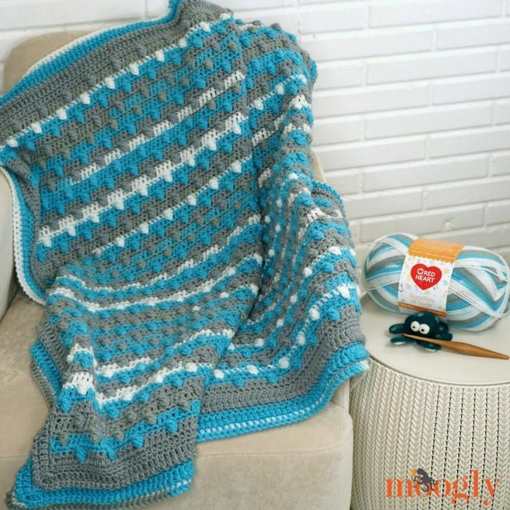 Bunches Of Bobbles Blanket Free Crochet Afghan Patterns