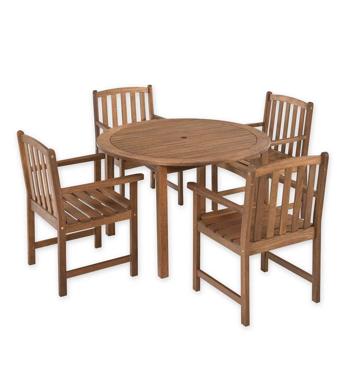 Lancaster Round Table Set Round Table And 4 Chairs Wooden