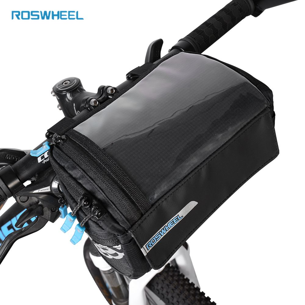 Compare Prices Roswheel New Bike Frame Bag Pvc Map Pocket Top Tube