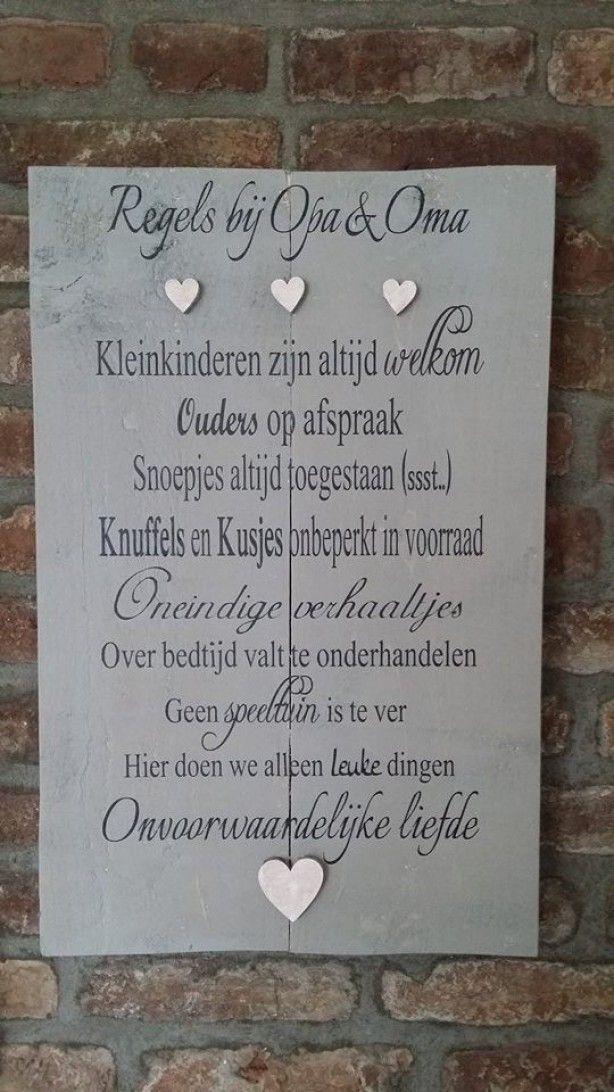 Citaten Voor Oma : Tekstbord opa oma diy tekstborden nederlandstalig