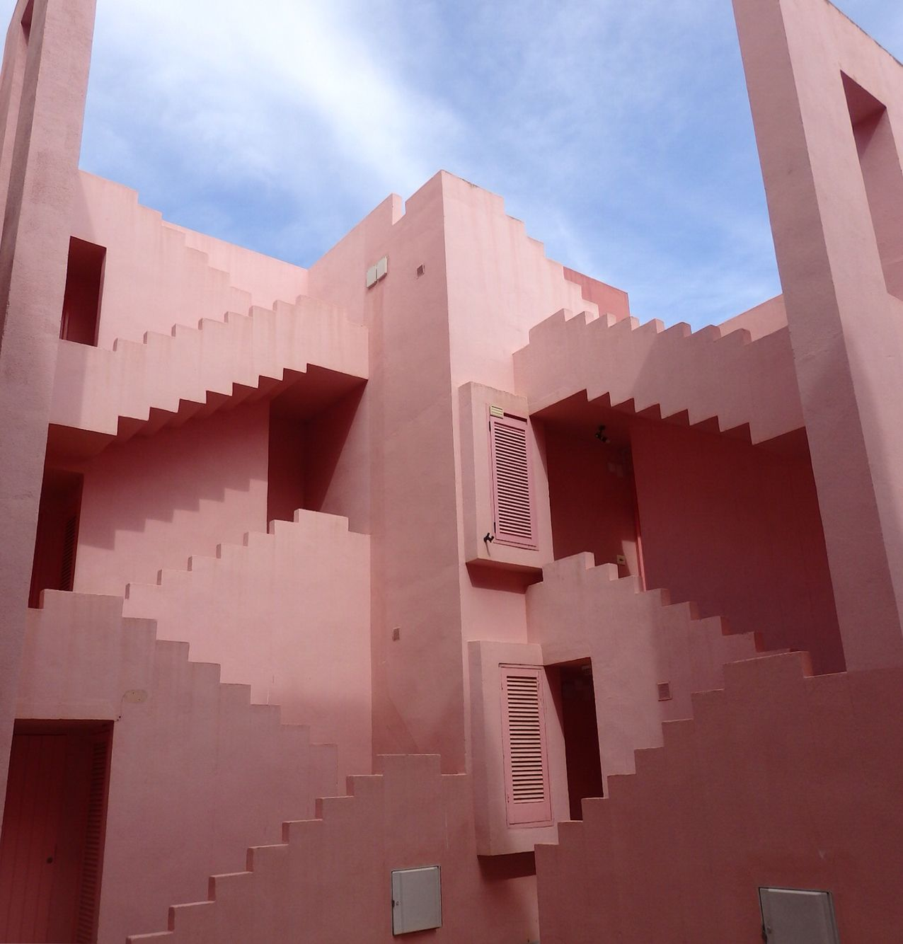 La Muralla Roja is a real life Escher painting