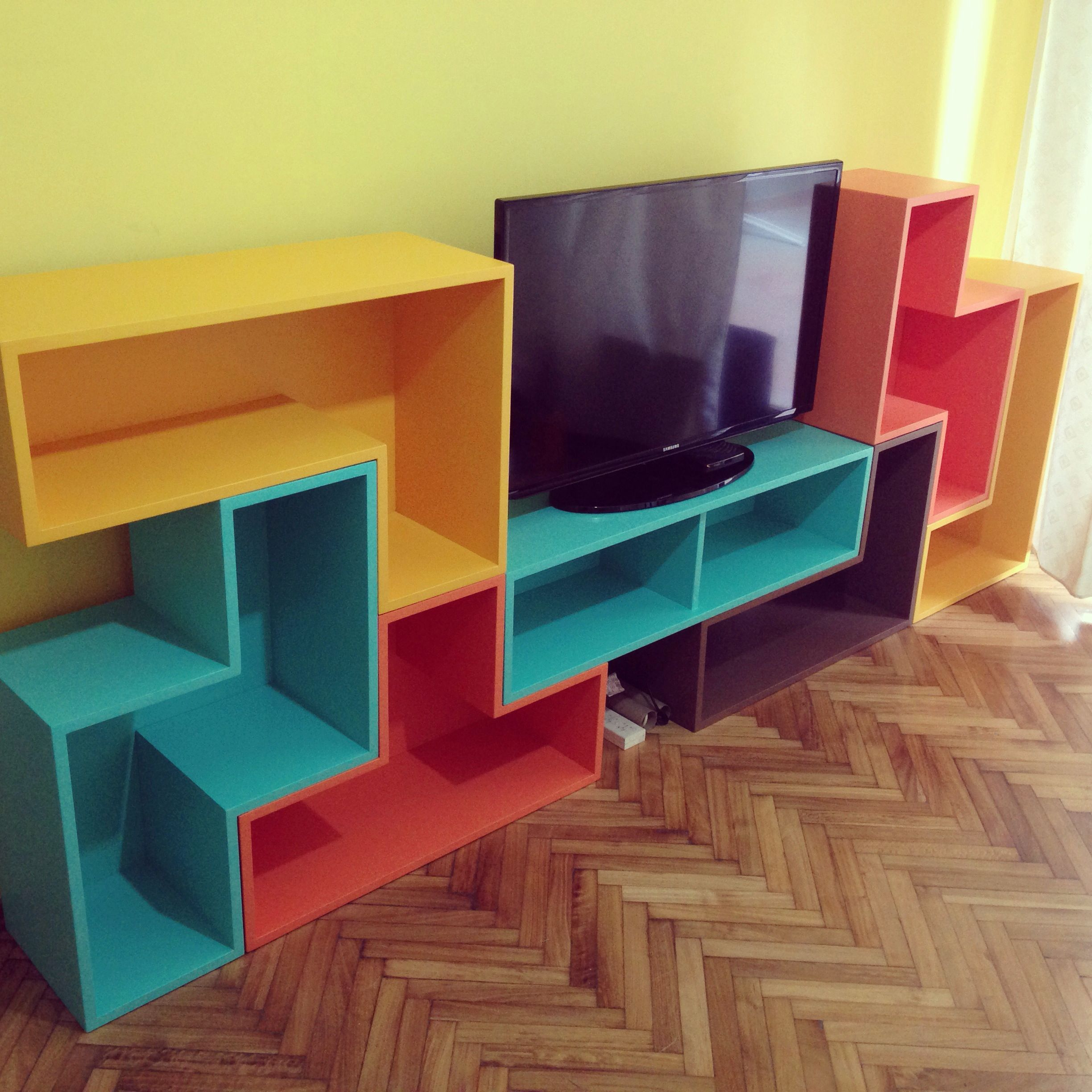 Tetris furniture for my apartment   - Made by Bacardo   Pinterest ...