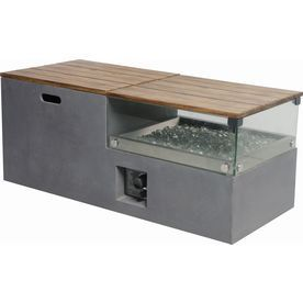 Shop Bond 20 In W 50 000 Btu Gray Composite Liquid Propane Fire