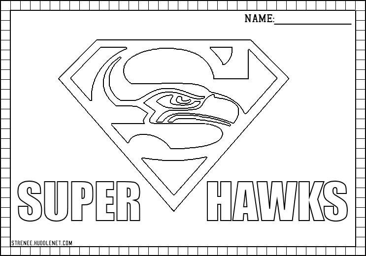 seattle seahawks free coloring pages - Free Printable Football Coloring Pages