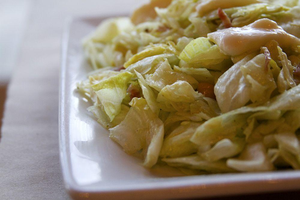 Chopped Salad ~ Mozzarella, salami, chick peas, pepperoncini, tomato, herb vinaigrette