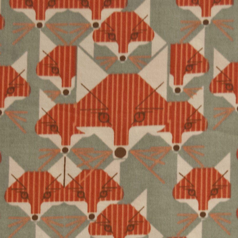 CHB29 Charley Harper Foxsimilies Foxes Organic Cotton Fabric Quilt ... : organic cotton quilt fabric - Adamdwight.com